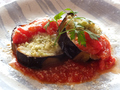 料理メニュー写真米なすとモッツァレラチーズのオーブン焼き