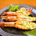 【丸九の宴会料理】5000円のコースに付いてくる桜肉。プリプリの海老をご堪能あれ!