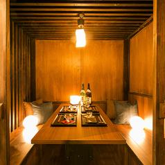 少人数個室も完備!和の落ち着いた雰囲気の安らぎ個室空間をご提供◎