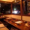 12名堀ごたつ個室。サークル毎の飲み会など中規模のご宴会でのご利用が多いテーブル個室。