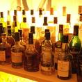ウイスキーやブランデーなどのお酒も豊富
