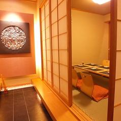 二階座敷個室※他のお席とは通路を隔てた完全個室です。