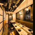 モダンな大人の空間の完全個室【11名~16名個室】会社での歓迎会や送別会など各種宴会に♪