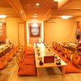 二階は一間で50席まで収容可能。56名でのご利用の場合は二階貸切となります。