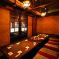 2階フロアは完全個室の隠れ家的雰囲気で天井も高く【会話と食事】をよりゆったりと楽しめるお席です。35名様~貸切可能!周りを気にせずプライベートな空間で、会話やお食事を心ゆくまでお楽しみ下さい幹事さまのお役に立てるよう、ご宴会コースは多数ご用意しております。お気軽にご相談ください