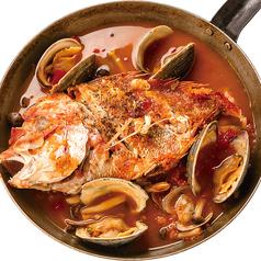 おすすめ1 本日の鮮魚のブイヤベース+ラクレットチーズ