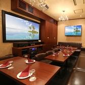 10名~30名でもご利用いただけるプライベート完全個室席もご用意しております。小~中人数の飲み会や打ち上げにも最適。宴会だけではなく、最近ではDVD鑑賞会などでもリピーター急増中の空間です。