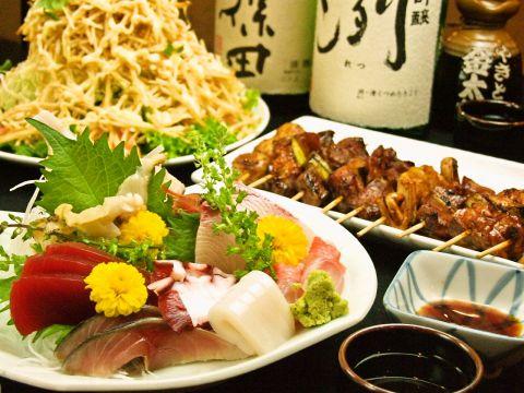 串焼きと刺身をリーズナブルに味わえる人気の居酒屋!!