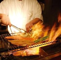 新鮮魚介はお刺身、炙りで…