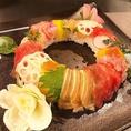 誕生日・記念日に最適な寿司ケーキ♪様々なバリエーションをご用意しております!是非お問い合わせ下さい!!