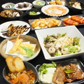 料理メニュー写真食べ飲み放題コース!