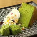 料理メニュー写真宇治抹茶ケーキとわらび餅