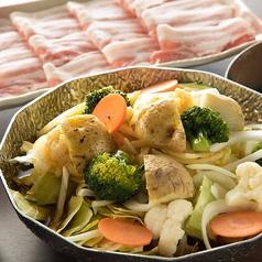 料理メニュー写真スープカレー鍋 夢の大地豚と冬野菜