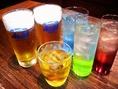 ビール、ウィスキー、焼酎、カクテル、ノンアルコールカクテルとドリンク種類も豊富!飲み放題もご用意♪
