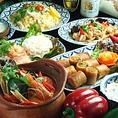 サラダだけでなく、ほぼすべてのお料理にお野菜が使われています♪例えば、お料理にパクチーなどの香草がたっぷりのっていたり、キノコやトマトなど、美容にいいお野菜がふんだんに使われている為栄養バランスを取りやすくなっています。美味しく食べれて、特に意識しなくても野菜がたくさん摂れるタイ料理は必食!!