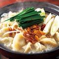 料理メニュー写真とんこつ味の餃子鍋