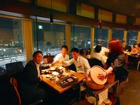 地上14階。小倉随一の夜景を眺めながら優雅な宴会を…