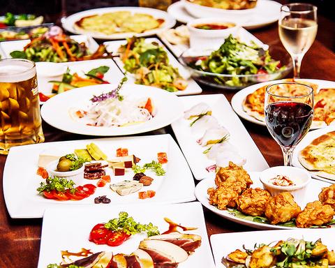 様々な多国籍料理を京町家風のダイニングバーで♪