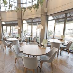 座り心地のいいお席でご友人などとお食事やカフェタイムをお楽しみください。