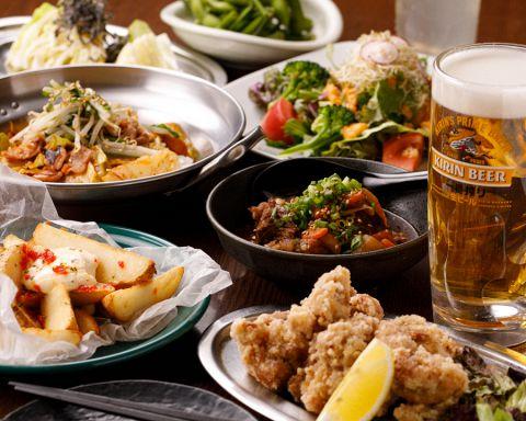 【3500円コース】料理7品飲み放題付き150分(飲み放題ラストオーダー120分後)