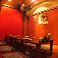 【1階フロア】パーテーションを入れて半個室空間で宴会が可能