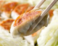 料理メニュー写真鉄板蒸し餃子(8個)