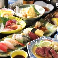 種類豊富な鮨を各種ご用意。食べ比べも楽しめます。