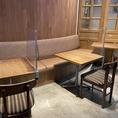 テーブル席をご用意しています。ゆったりとしたテーブル席で、ランチやディナーをお楽しみください♪