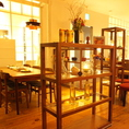 飾り棚で半個室のような雰囲気。小宴会にもおすすめ。