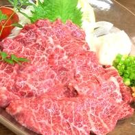 特選馬刺しなど熊本郷土料理も味わえる。接待や宴会に。