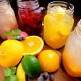 生果実サングリアカクテル★オレンジスパークリング、アップルスパークリング、ベリースパークリング、ピーチスパークリングなど多数ご用意しております♪