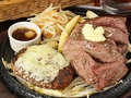 料理メニュー写真厚切り300g&チーズハンバーグ
