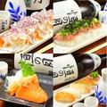 料理メニュー写真お造りとお寿司!新鮮海鮮シリーズ!