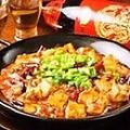 料理メニュー写真鉄板麻婆豆腐