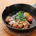 料理メニュー写真三元豚の厚切りトンテキ