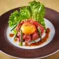 料理メニュー写真【熟成肉】 牛冷しゃぶユッケ仕立て