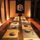 対面席のさまざまな個室完備