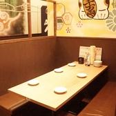 ゆったり座れるテーブル席!2名席~10名席までございます!