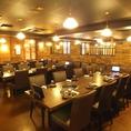 《宴会向き・テーブル席》テーブル個室は50名様まで可能!大人気のお席♪大人数で宴会をお探しの方、必見!!宴会特典も充実した甘太郎 池袋60F通り店、お気軽にお問い合わせください。大人数でのご宴会に最適なお得な食べ放題付きコースや飲み放題付きコースを多数ご用意しておりますので合わせてご利用下さい♪