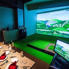 ■ゴルフ個室■(1~6名様)完全個室でゴルフシミュレーター1台あり☆ゴルフ初心者の方からみんなで楽しくプレイ!☆