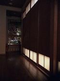 薄っすら浮かぶ,2F廊下からの箱庭。