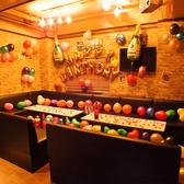◆テーブル席(8名様から)◆お客様の持ち寄りで誕生日を演出もできます!
