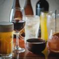 宴会コースにプラス1,500円(税抜)で飲み放題がお付けできます。日本酒やレア焼酎も飲み放題に!