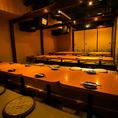 ◆団体様個室◆40名様以上で貸切OKのこの宴会場での1番人気はやはり会社の宴会での御利用が多いです、また久しぶりに会った仲間内の同窓会にも◎十分な広さがございますので、ゆったりとおくつろぎ頂けるお席です