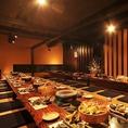大宴会は40~最大60名様まで対応させて頂くことが可能です。人数でのご宴会や飲み会の際はぜひお越しくださいませ!自慢の料理と選りすぐりの日本酒、素敵な空間をご用意してお待ちしております。新潟古町の居酒屋で盛り上がりましょう!
