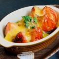 料理メニュー写真群馬県フルーツトマトのバジルソースチーズ焼き
