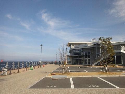 大きな窓から見える海のロケーションと美味しい料理を楽しめる港のcafe♪
