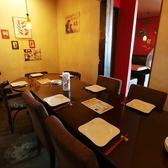 カーテンで仕切らている半個室席!4名席×4 人数によりお席をつなげることも可能です!最大16名様まで!