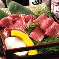 料理メニュー写真黒毛和牛赤身肉