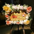 結婚式2次会12大特典の一つ!かわいいウェルカムボードで参加者の方をお出迎え♪